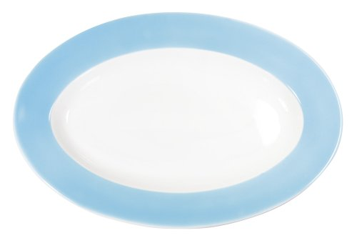 Kahla - Porcelaine pour les Sens 573306A72025C Pronto Colore Plateau Ovale Bleu Ciel 32 cm