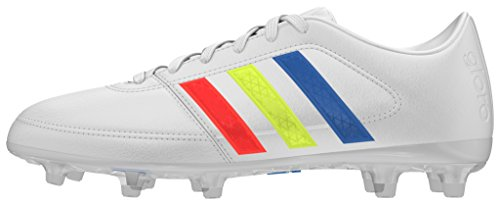 adidas Gloro 16.1 Fg, Scarpe da Calcio Bambino Blanco (Ftwbla / Amasol / Azuimp)