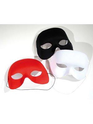 Stoff-Halbmaske, weiß