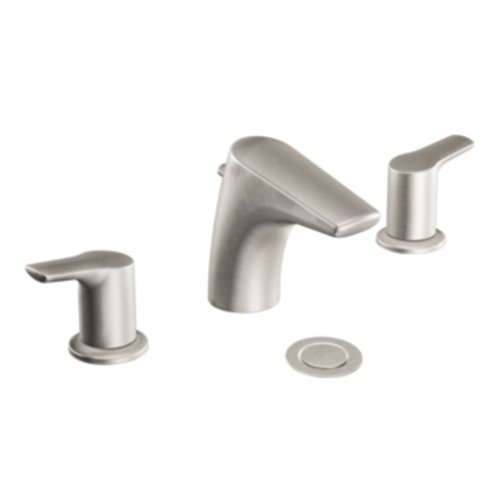 Moen Methode Zweigriff Low Arc Badezimmer Wasserhahn, gebürsteter nickel, .5 (Moen Low-arc Bad Wasserhahn)