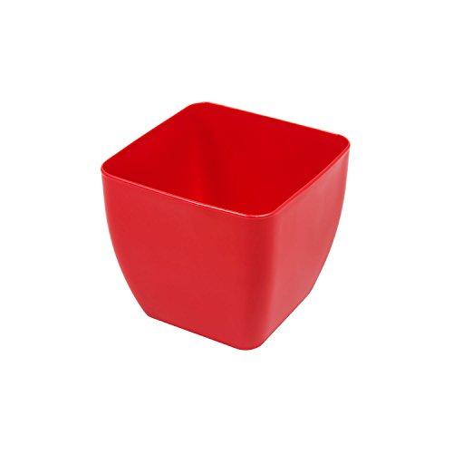 Pflanztopf konisch/quadratisch, Kunststoff,