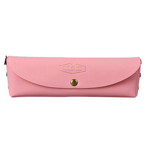 Fami Pencil Pouch Stationery PVC Vintage Student,Rose