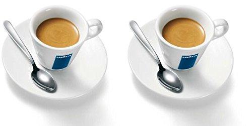 2 X Lavazza Espresso Coupes Porcelaine et soucoupes des capacités cc 75, height mm 58