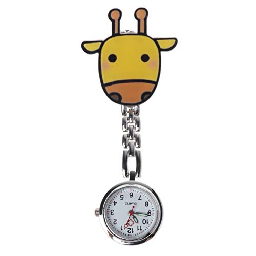 congchuaty Quarz-Krankenschwester-Uhr-Fall-Klipp-Doktor Medical Watches Pocket Watch Cartoon-Nette Art- und Weisesilber-hängende Kasten-bewegliche hängende Charme-Schmucksachen -
