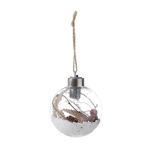 BESTOYARD LED-Lampe Kupfer Lichterketten Batteriebetriebene Hängende Lichter mit Jute Seil Globale LED Draht Hängeleuchte für Weihnachtsbaum Dekoration (Stil B)