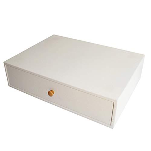 LIANGLIANG-zhiwujia Wandregal Nachttisch mit Schubladen Multifunktion Speichereinheit Wandschrank Schminktisch, 5 Farben (Farbe : Weiß, größe : 55x40x14cm) -
