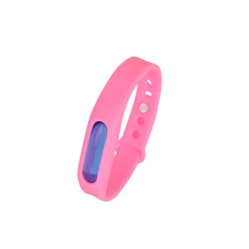 Kroo Mosquito Armband Insektenschutzmittel Armband Schutz und verstellbarer Armband Gurt für Babys Audlt und Haustiere rose