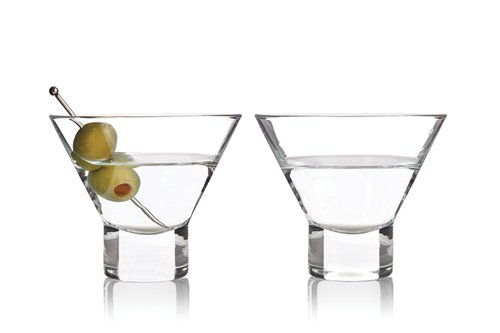 Viski Raye Stammlose Martini Gläser (2-er Pack, Kunststoff, Multi Colored, 11 x 11 x 11 cm,