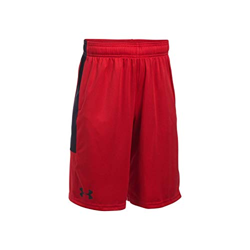 Under Armour Jungen UA Stunt Kurze Hose, Red, YMD