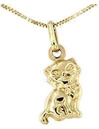 Lucchetta - Yellow Gold Necklace Elephant pendant - 9ct Gold necklace for Women with Elephant pendant PzDBVy