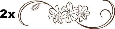 Auto Lato adesivo tribale fiore, 803 Chocolate brown, 2St. je 190x57cm