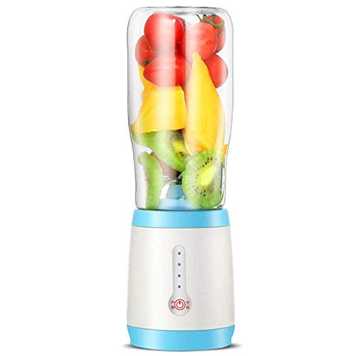 YYDIANZ Entsafter Personal Mini Mixer Smoothie-Hersteller Smoothie Single Serve Mixer Portable Entsafter Cup Electric Power Mixer Obst und Gemüse Single Serve mit Reisedeckel und Mühle - Mixer-cup Power