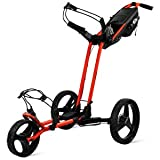 Sun Mountain Pathfinder 3 Wheel Push Golf Trolley Cart Black/Inferno