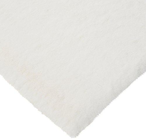 CRS Fur Fabrics Super Luxe Fausse Fourrure Tissu Matériau - en Peluche Super Doux Crème