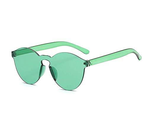 WERERT Sportbrille Sonnenbrillen One Piece Sunglasses Women Transparent Plastic Glasses Men Style Sun Glasses Clear Candy Color