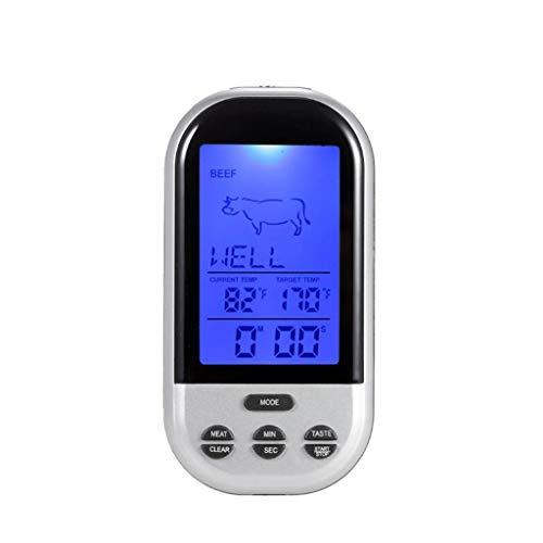 W&Z Küche Thermometer Digital Instant Lesen Sie Cooking Thermometer Wireless Remote Thermometer und Timer mit Probe für Grill Grill Fleisch Hamburger -