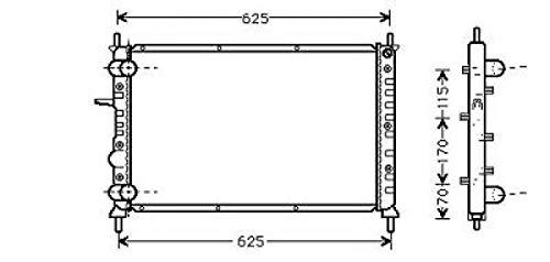 PIECES AUTO SERVICES Radiateur, Refroidissement du Moteur 556 x 394 pour Boite Manuelle de 98 à 04 - OEM : 46529669