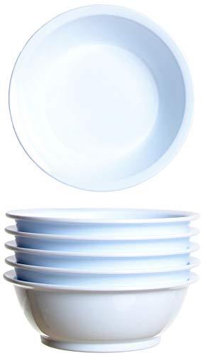 idea-station Gastro Kunststoff-Schalen 6 Stück, 18 cm, 600 ml, weiß, mehrweg, bruchsicher, rund, stapelbar, Müsli-Schale, Salat-Schüssel, Dessert-Schalen, Tapas-Schalen, EIS-Becher
