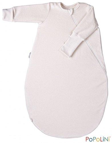 popolini-gigoteuse-manches-longues-en-coton-bio-baumwollvlies-ecru-taille-s-70-cm