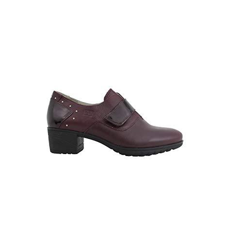 30's - Zapato de tacón Burdeos con Velcro - Burdeos, 40