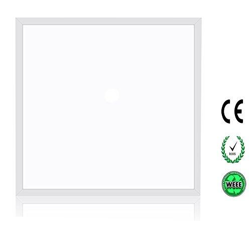 SOLLA Panel LED Plafonnier Luminaire Carré 60x60CM 36W Panneau LED Plafonnier Ultra-mince Blanc Froid 6500K, 2960Lm AC90-265V, Application Idéale pour Une Maison Moderne, Bureau ou But Commercial