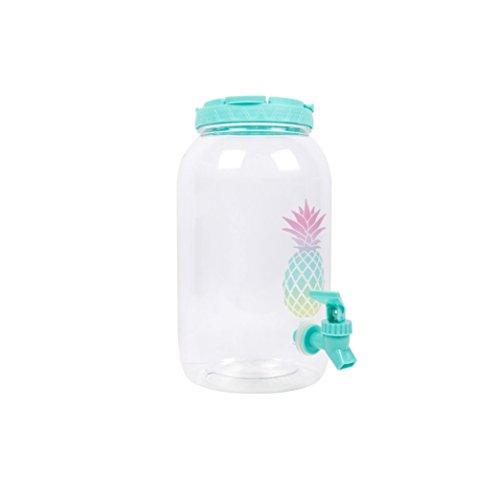 Dispensador de bebidas de verano, plástico, refrescos al agua, soporte de vacaciones, barril, bebida, picnic, fiesta, tarro de zumo, sandía, piña Pineapple