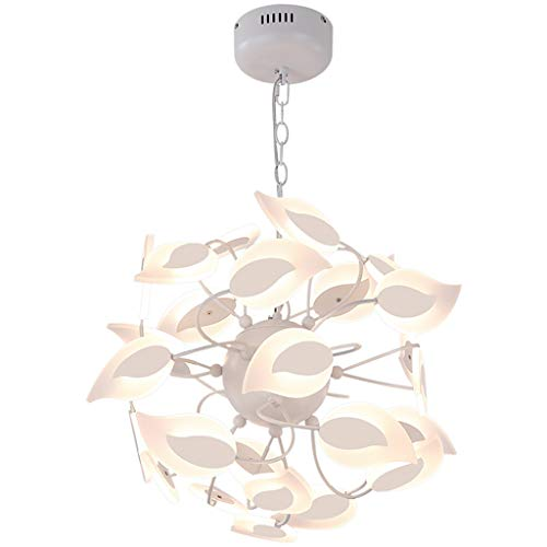Hyvaluable high-end soggiorno lampadario camera da letto lampada a sospensione semplice personalità creativa moderna albero foglia atmosfera ristorante led lampadario - bianco lampadario