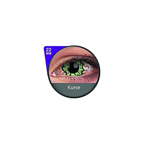 Kontaktlinsen linsen farbige weiss rot vampir sklera mit Box dämon halloween kostüme scleral (Kostüm Kontaktlinsen Sclera)