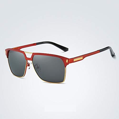 WARM home Wunderschönen UV400 Trend Protection treibende Retro Persönlichkeit langes Gesicht großes Gesicht rundes Gesicht polarisierte Sonnenbrille weibliche Männer Sonnenbrille Geschenk (Color : 3)
