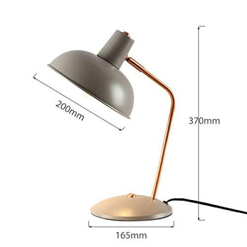 Lámpara de escritorio escritorio del ojo escritorio de la universidad dormitorio pequeño lámpara de mesa sencilla moderna Nordic IKEA dormitorio lámpara de noche gris