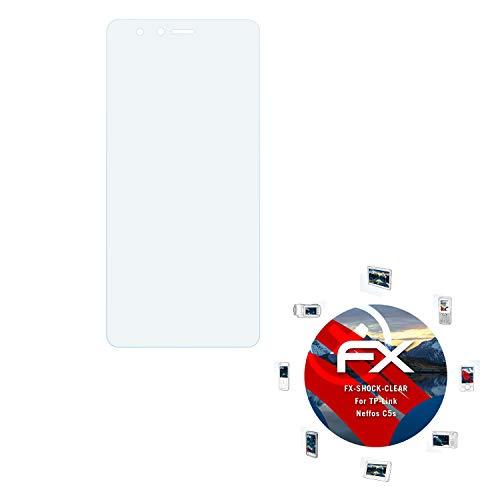 atFolix Schutzfolie kompatibel mit TP-Link Neffos C5s Panzerfolie, ultraklare & stoßdämpfende FX Folie (3X)