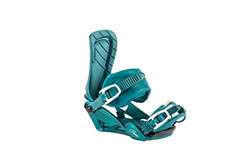 Nitro Snowboards Damen Poison Bdg'19 Premium Freeride Freestye Highend Carving Snowboardbindung Bindungen, Deep Sea, S/M -