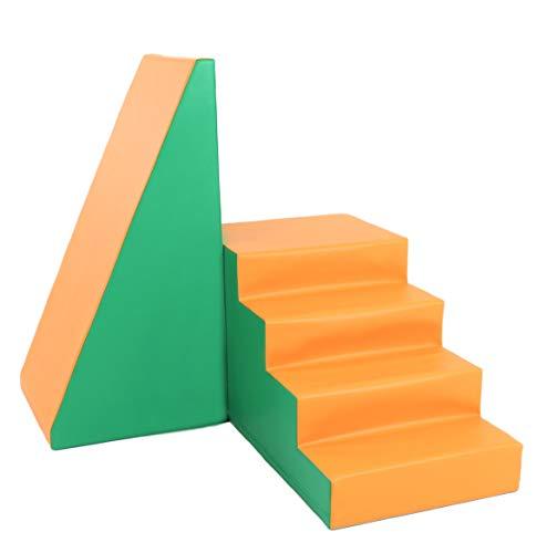 *IGLU XXL Softbausteine Riesenbausteine Treppe und Rutsche – Grün Orange*