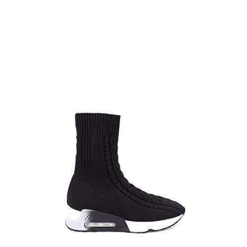 ASH Sneakers A Calza Alta, Nero, 40