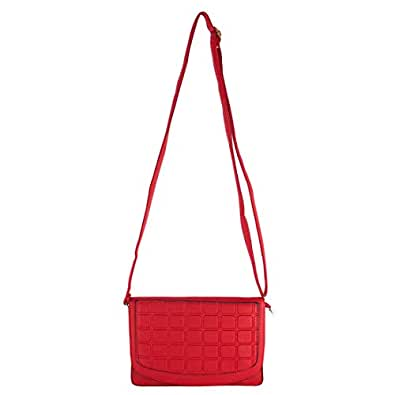 High Valley Fashion Red Antibes Sling Bag (N1234) (Buy one get One free)