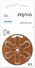 Siemens Signia Hearing Aid Zinc Air Batteries 312 - 60Pcs (Brown)