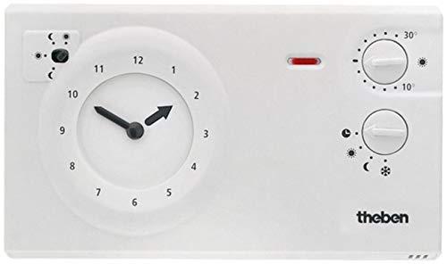 Theben 7220030 RAM 722 (RAMSES) - analoges Uhrenthermostat mit Tages- und Wochenprogramm, Raumtemperaturregler, Raumregler, Thermostat -