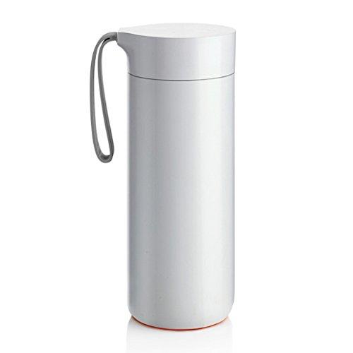 Tasse créatrice portative d'isolation couleur unie ne verse pas la tasse simple avec un couvercle avec la tasse portative d'eau de corde tasse de sports d'étudiant tasse de forme physique d'hommes et de femmes ( Color : Blanc )