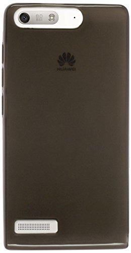 PhoneNatic Case kompatibel mit Huawei Ascend G6 - schwarz Silikon Hülle transparent Cover