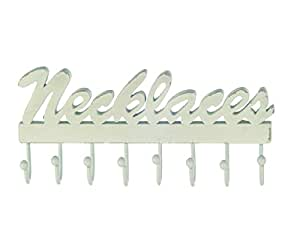 White 'Necklaces' Jewellery Hanger with 8 Hooks