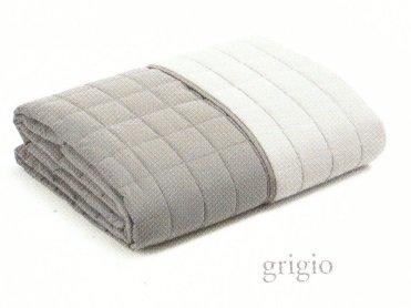 Effetto casa copriletto trapuntino matrimoniale primavera estate microfibra originale caleffi modern bicolor (grigio)