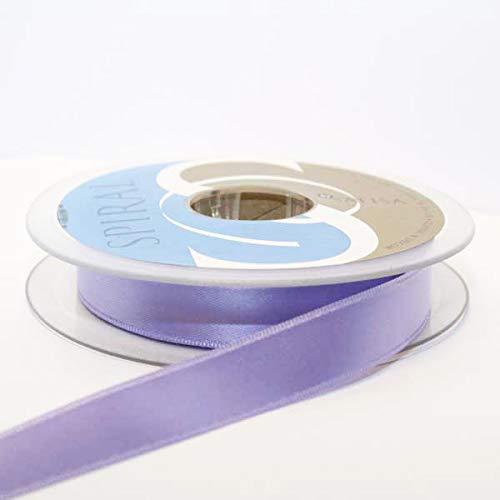Satin-hutband (Hutband Satin-Band, 15 mm: je 2 x 2 m, helles Violett/lila)