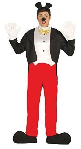Herren Mickey Mouse Halloween Buch Tag Kostüm Verkleidung Outfit Größe (Herren Fliegen Kostüm)