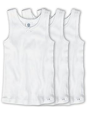Sanetta Mädchen Unterhemd im 3er Pack 303600-3er weiss