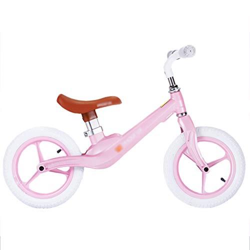 DUWEN-Kinder Balance Auto Magnesiumlegierung Rahmen Pedalless Zweirad Fahrrad (Farbe : Pink)
