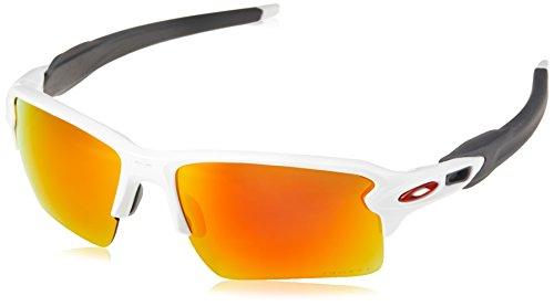 Oakley Herren Flak 2.0 XL 918893 Sonnenbrille, Weiß (Polished White/Prizmruby), 59