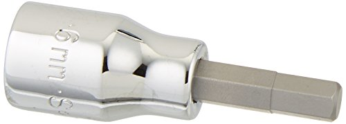 SK Hand Tool 41405 Drive Hex 6mm Bit Socket, 3/8-Inch, Chrome by SK Hand Tool (Hex Chrome Bit)
