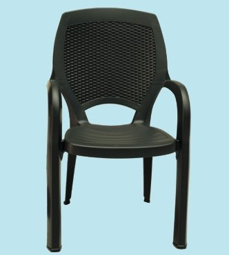 Chaises Chaise Fauteuil effet rotin Maxy Paloma anthracite