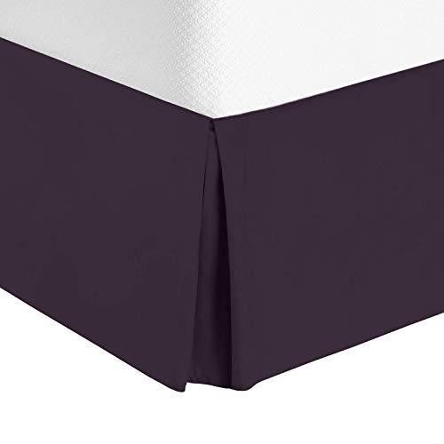 Plisado bed-skirt lujo doble cepillado 100% microfibra polvo volantes, 14'pulgadas Tailored gota, cubre cama patas y el marco. Por Nestl ropa de cama