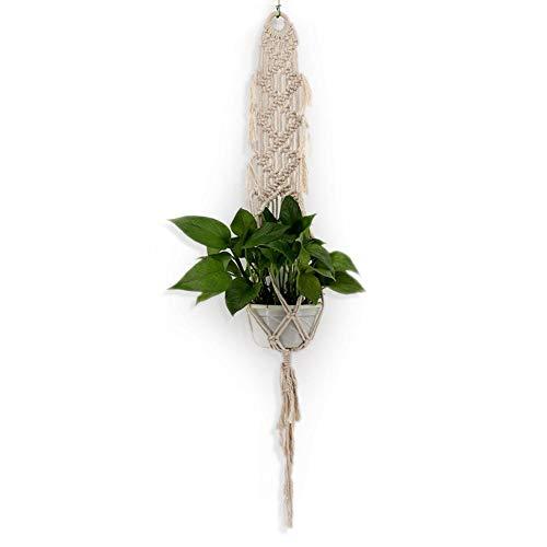 SunniY Pflanzenhänger Blumentopf,Makramee Blumenampel, Zum Aufhängen Pflanzenhalter Baumwolle Aufhänge Seil Für Innen Außen Decken Balkone Wanddekoration